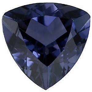 Faceted Iolite Stone, Trillion Shape, Grade AAA, 5.00 mm in Size, 0.38 carats