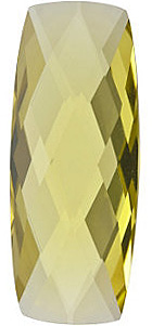 Faceted Lemon Quartz Gemstone, Antique Cushion Shape Double Sided Checkerboard, Grade AA, 25.00 x 10.00 mm in Size, 12.9 Carats
