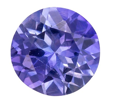 Faceted Loose 0.52 carats Sapphire Loose Genuine Gemstone in Round Cut, Lavender Purple, 4.9 mm
