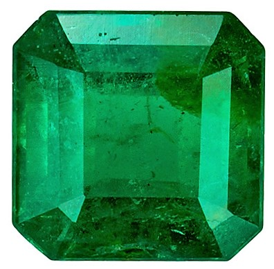 Rich Green Loose 0.72 carat Emerald Gemstone, Square shape, 5.6 x 5.5  mm