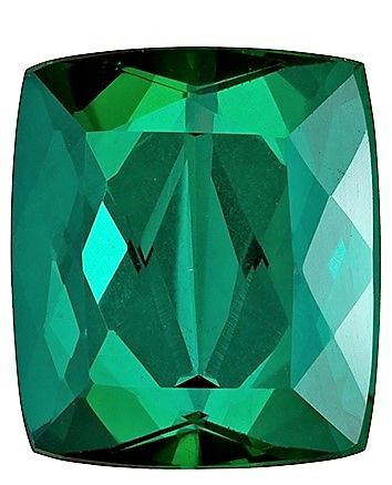 Faceted Loose 10.4 x 9.1 mm Tourmaline Loose Gemstone in Cushion Cut, Teal Green, 4.89 carats