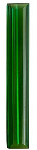 Faceted Loose 5.24 carats Tourmaline Genuine Gemstone in Emerald Cut, Rich Green, 33 x 5.3 mm