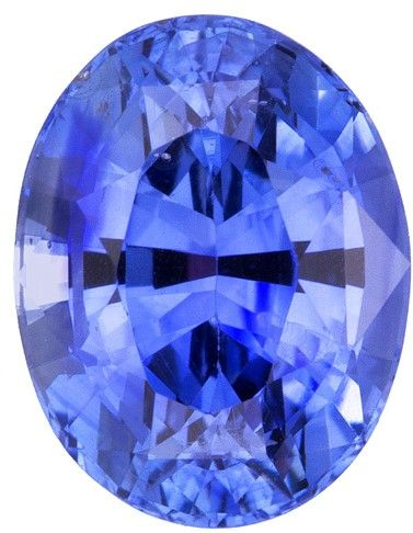 Faceted Loose 7.4 x 5.7 mm Sapphire Loose Gemstone in Oval Cut, Vivid Blue, 1.52 carats