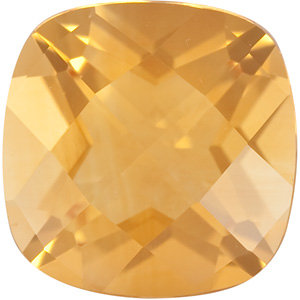 Standard Size Faceted Loose Antique Square Shape Checkerboard Citrine Gemstone Grade A, 12.00 mm in Size, 7 carats