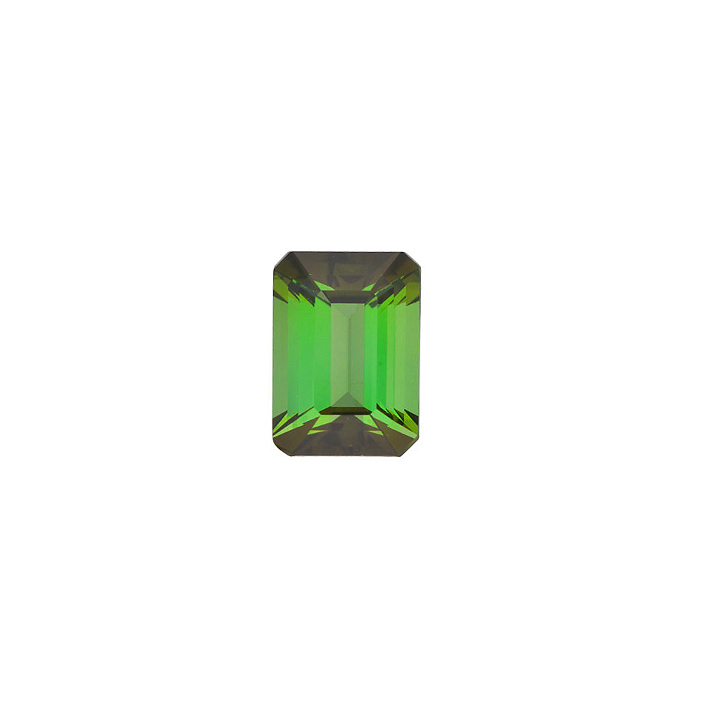 Standard Size Faceted Loose Emerald Shape Green Tourmaline Gemstone Grade AAA, 7.00 x 5.00 mm in Size, 1.1 Carats