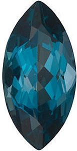 Faceted Loose Natural Genuine Marquise Shape London Blue Topaz Gem Grade AAA, 10.00 x 5.00 mm in Size, 1.33 Carats