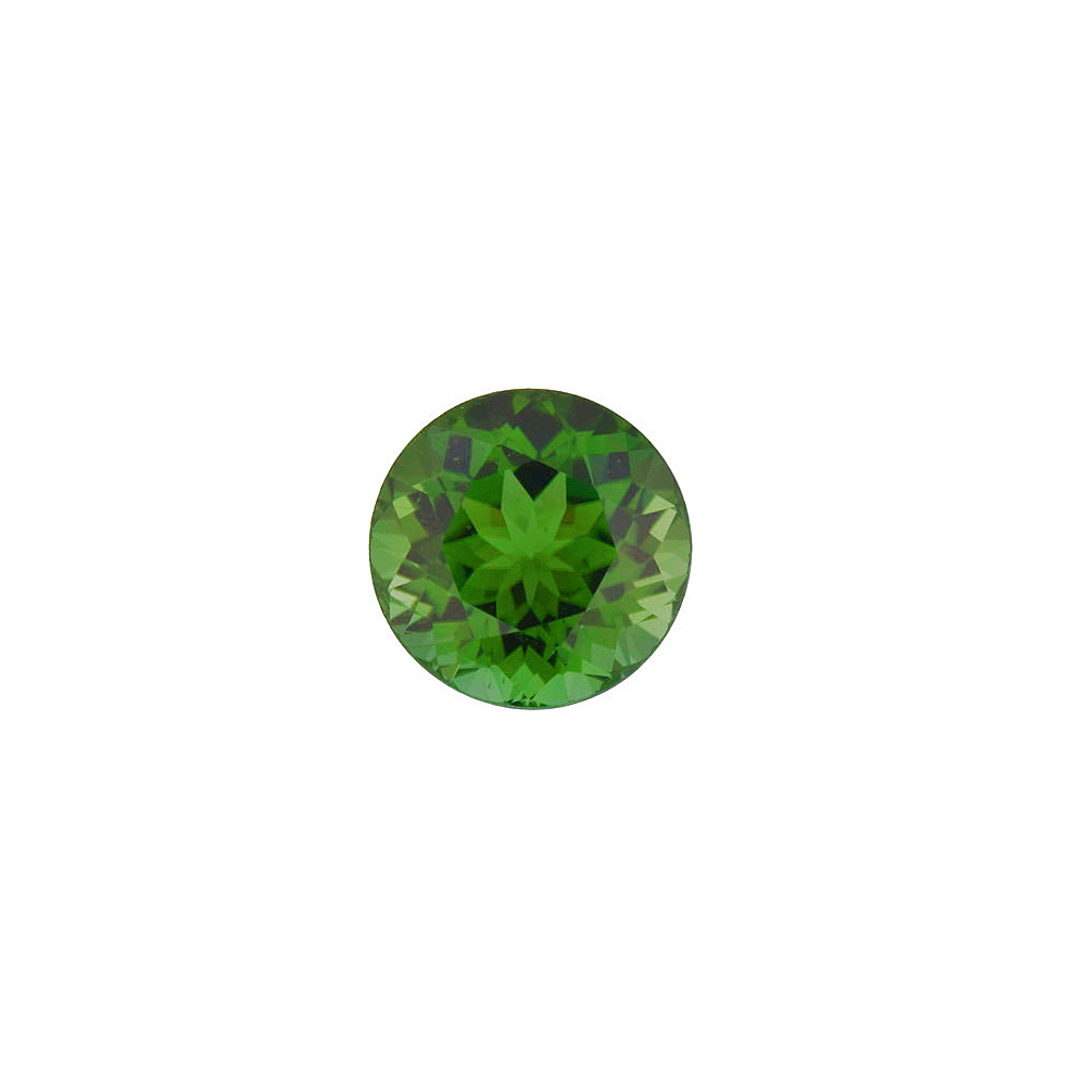 Faceted Loose Natural Round Shape Green Tourmaline Gemstone Grade AAA, 3.50 mm in Size, 0.18 Carats