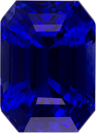 Faceted Loose Shire Gem In Blue Color Emerald Cut 8 1 X 5 Mm 2 49 Carats