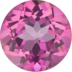 Faceted Mystic Pink Topaz Gem, Round Shape, Grade AAA, 5.00 mm in Size, 0.65 Carats