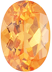 Faceted Natural Calibrated Oval Shape Spessartite Orange Garnet Grade AA, 6.00 x 4.00 mm in Size