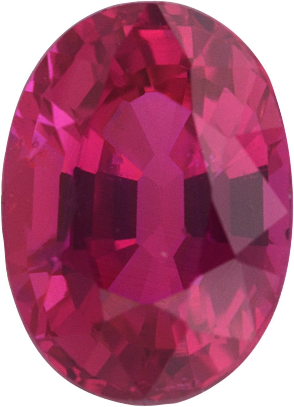 Faceted  No Treatment Ruby Loose Gem in Oval Cut,  Purple Red, 6.77 x 4.89  mm, 1.13 Carats