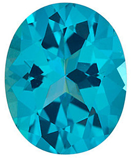Faceted Paraiba Passion Topaz Gemstone, Oval Shape, Grade AAA, 8.00 x 6.00 mm in Size