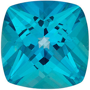 Faceted Paraiba Passion Topaz Stone, Antique Square Shape, Grade AAA, 5.00 mm in Size