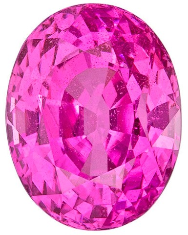 Faceted Pink Sapphire Gemstone, Oval Cut, 2.99 carats, 8.8 x 6.8 mm , AfricaGems Certified - A Low Price