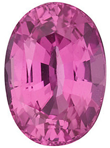 Faceted Pink Sapphire Stone, Oval Shape, Grade AA, 6.50 x 4.50 mm in Size, 0.82 Carats