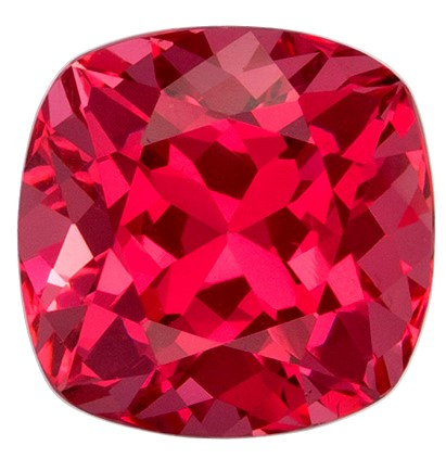 Reddish Pink Vivid Spinel Gemstone, Cushion Cut, 1.09 carats, 5.9 mm , AfricaGems Certified - A Beauty of A Gem
