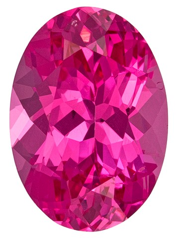 Vivid Hot Pink Spinel Gemstone, Oval Cut, 0.96 carats, 7.3 x 5.1 mm , AfricaGems Certified - A Great Buy