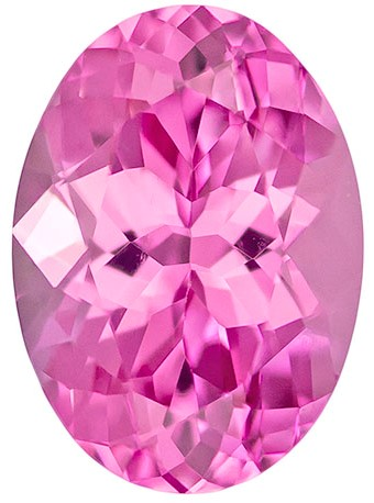 Faceted Pink Spinel Gemstone, Oval Cut, 1.26 carats, 7.8 x 5.6 mm , AfricaGems Certified - A Low Price