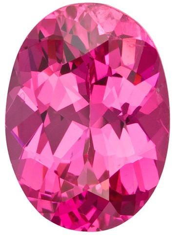 Faceted Pink Spinel Gemstone, Oval Cut, 1.3 carats, 7.8 x 5.6 mm , AfricaGems Certified - A Low Price
