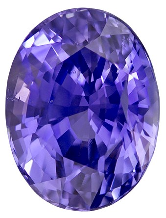 Faceted Purple Sapphire Gemstone, Oval Cut, 2.45 carats, 8.5 x 6.5 x 5.39 mm , GIT Certified - A Hard to Find Gem