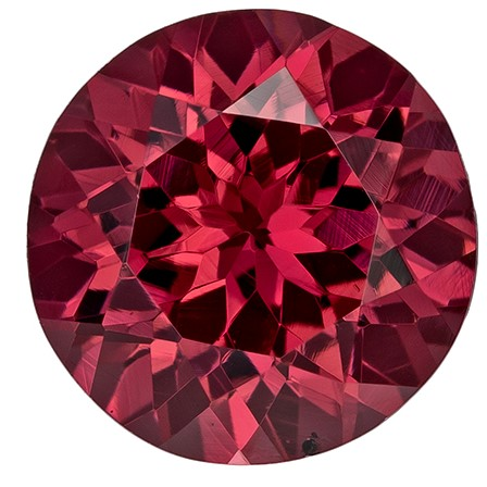 Faceted Rich Rhodolite Gemstone, Round Cut, 2.34 carats, 7.8 mm , AfricaGems Certified - A Low Price