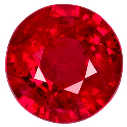 Faceted Fiery Ruby Gemstone, Round Cut, 1.52 carats, 6.8 mm , AfricaGems Certified - A Hard to Find Gem