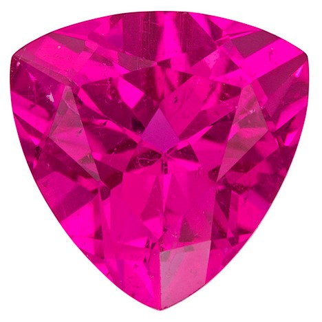 Faceted Red Tourmaline Gemstone, Trillion Cut, 1.75 carats, 8 mm , AfricaGems Certified - A Low Price