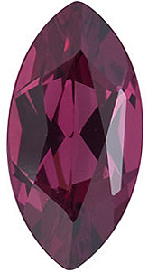 Faceted Rhodolite Garnet Gem, Marquise Shape, Grade AAA, 4.00 x 2.00 mm in Size, 0.11 carats