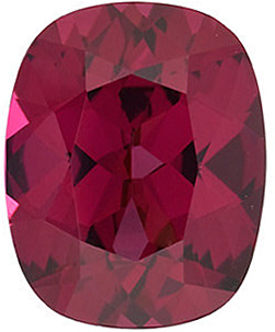 Faceted Rhodolite Garnet Stone, Antique Cushion Shape, Grade AAA, 9.00 x 7.00 mm in Size, 2.6 carats