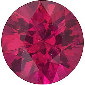 Discount Ruby Stone, Round Shape Diamond Cut, Grade A, 2.75 mm in Size, 0.11 Carats