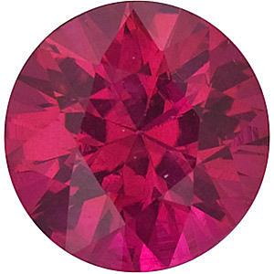 Faceted Ruby Stone, Round Shape Diamond Cut, Grade A, 1.25 mm in Size, 0.01 Carats