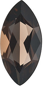 Faceted Smokey Quartz Gem, Marquise Shape, Grade AAA, 10.00 x 5.00 mm in Size, 1.1 Carats
