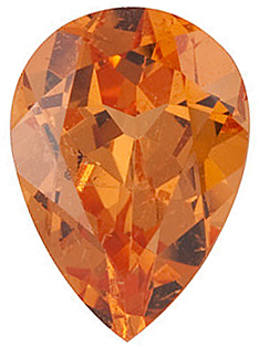 Faceted Spessartite Garnet Stone, Pear Shape, Grade AAA, 5.00 x 3.00 mm in Size, 0.3 Carats