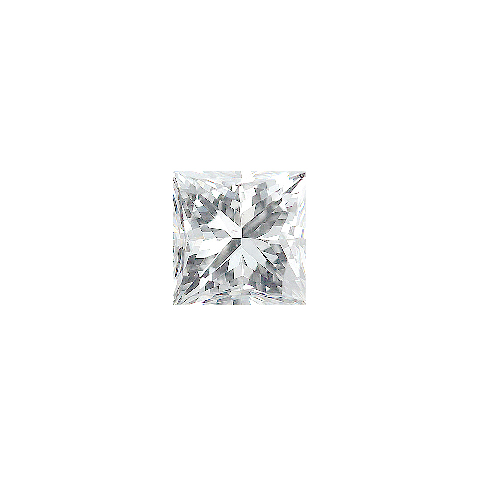 Faceted Standard Size Loose Princess Shape Diamond G-H Color - SI1 Clarity, 3.50 mm in Size, 0.26 Carats
