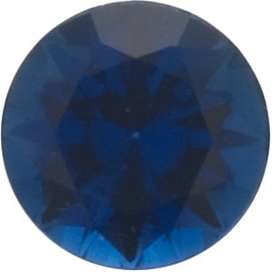 Faceted Swarovski Cut Blue Sapphire Gemstone, Round Shape, Grade FINE, 2.00 mm in Size, 0.05 Carats