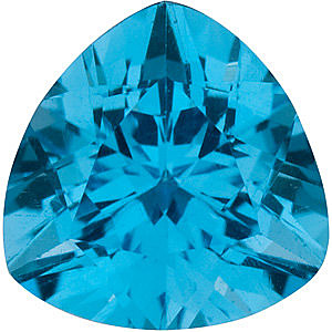Faceted Swiss Blue Topaz Gemstone, Trillion Shape, Grade AAA, 7.00 mm in Size, 1.5 Carats