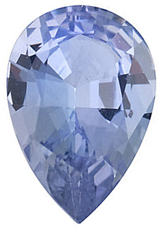 Faceted Tanzanite Gemstone, Pear Shape, Grade A  4.00 x 3.00 mm in Size, 0.16 Carats