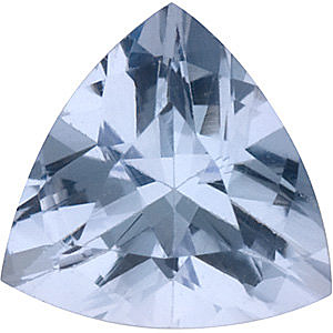 Faceted Tanzanite Stone, Trillion Shape, Grade B, 6.00 mm in Size, 0.75 Carats