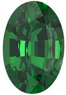 Faceted Tsavorite Garnet Gem, Oval Shape, Grade AAA, 4.00 x 3.00 mm in Size, 0.2 carats