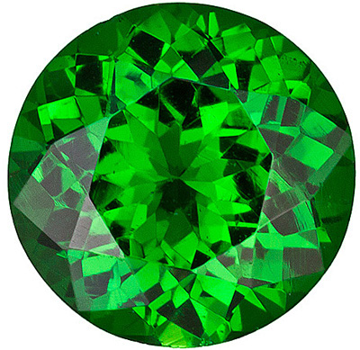 Faceted Tsavorite Garnet Gemstone, Round Shape, Grade AAA, 1.00 mm in Size, 0.02 carats