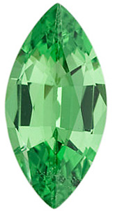 Faceted Tsavorite Garnet Stone, Marquise Shape, Grade AA, 6.00 x 3.00 mm in Size, 0.23 carats