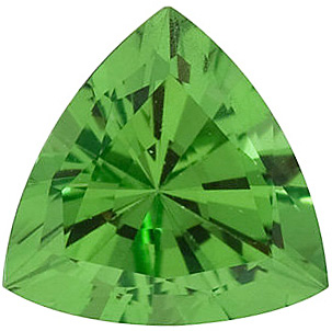 Faceted Tsavorite Garnet Stone, Trillion Shape, Grade AA, 4.00 mm in Size, 0.23 carats