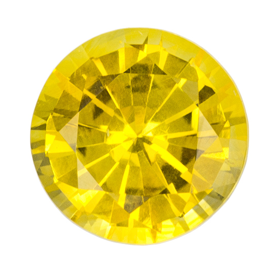 Faceted Yellow Sapphire Gemstone, Round Cut, 1.16 carats, 6.2 mm , AfricaGems Certified - Truly Stunning