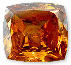 Fancy Deep Orangy Brownish Yellow 0.56 carats