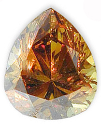 Fancy Deep Orangy Brownish Yellow Diamond 0.47 carats