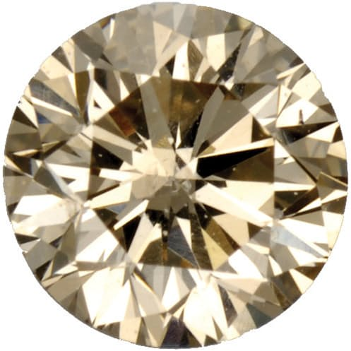 Genuine Gemstone Fancy Light Brown Diamond Melee Round Shape, SI1 Clarity, 3.20 mm in Size, 0.12 Carats