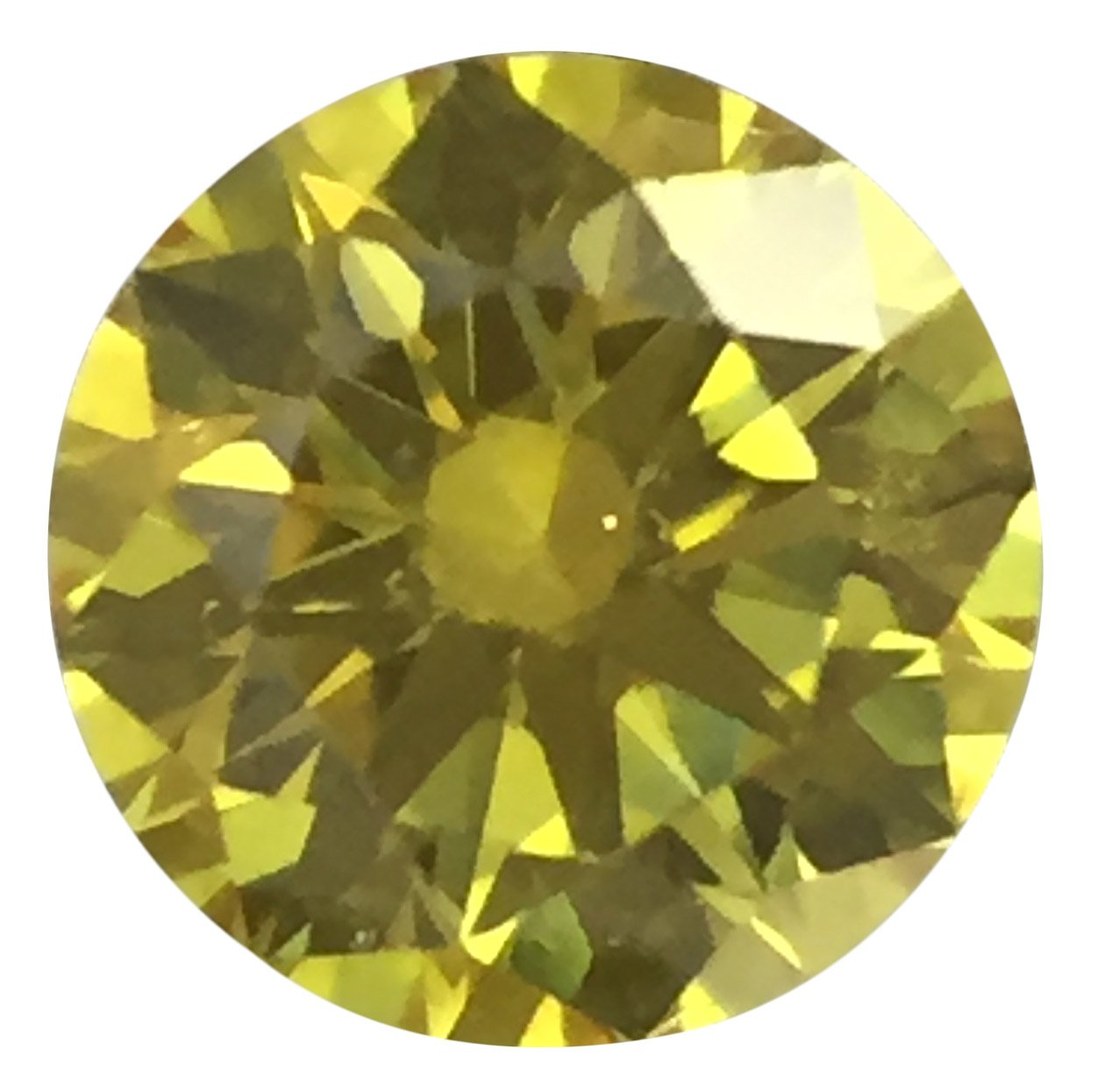 Fancy Vivid Yellow Diamonds in Round Brilliant Cut