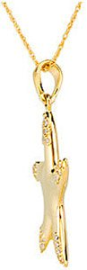 Fantastic 14k Yellow Gold Starfish Pendant With Inlaid Diamond Accents - FREE Chain - SOLD