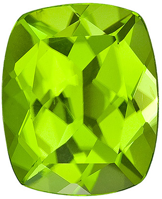 Fantastic Genuine Peridot Gem, Bargain Buy! Cushion Cut, 3.85 carats