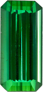 Fantastic Green Tourmaline Braziliant Gem, Beautiful Shape, Emerald Cut, 2.97 carats